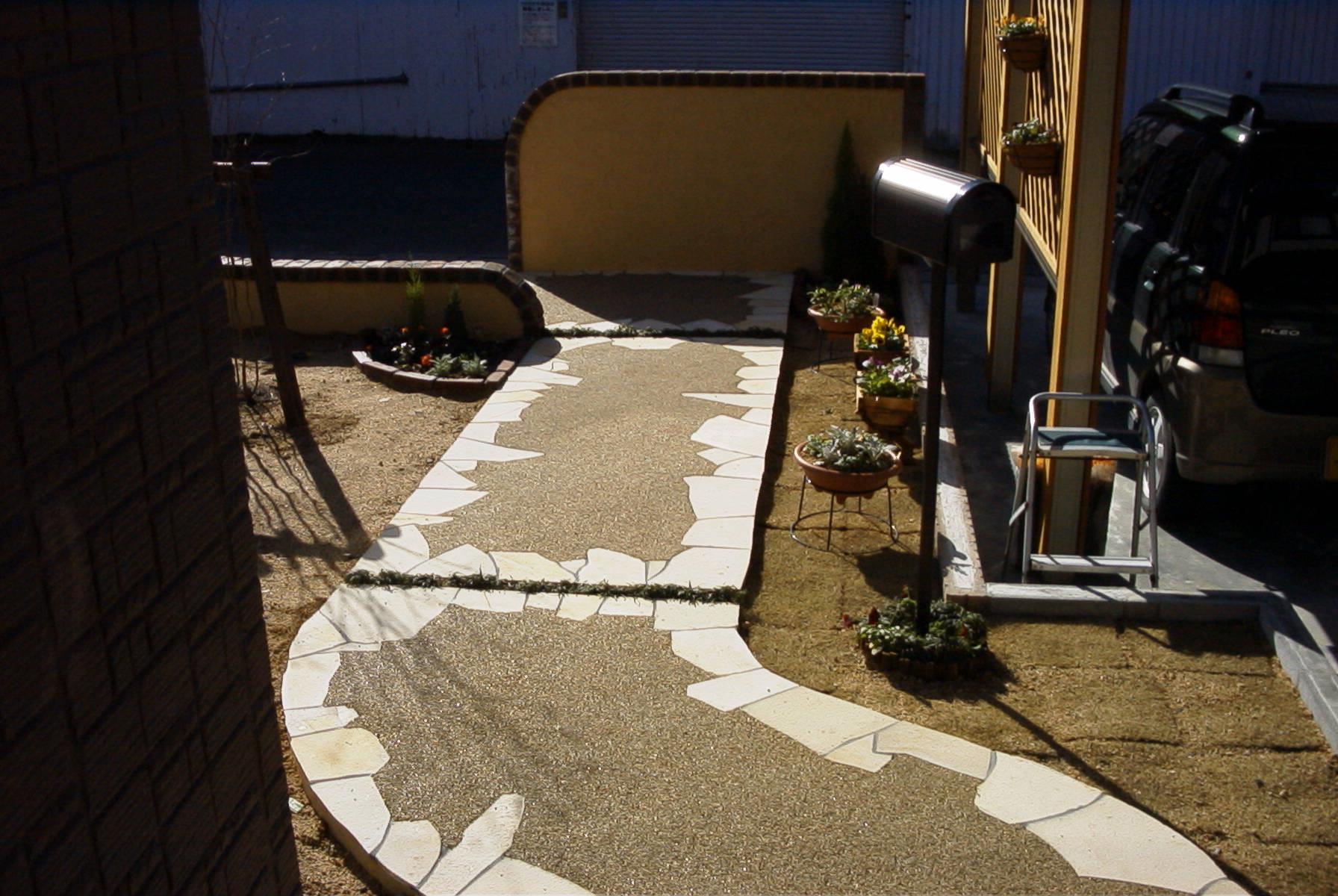 各種自然砂利樹脂舗装