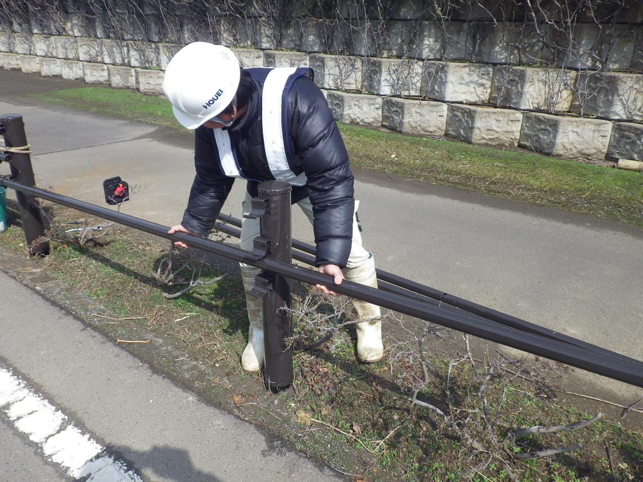 平成26年 ガードパイプ改修工事