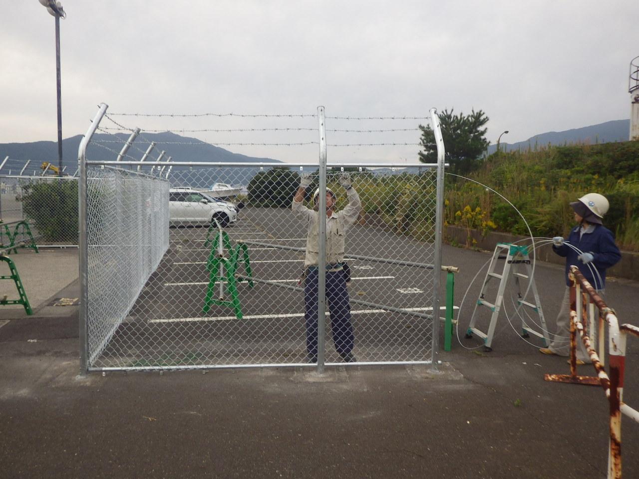 平成29年 立入防止柵設置工事