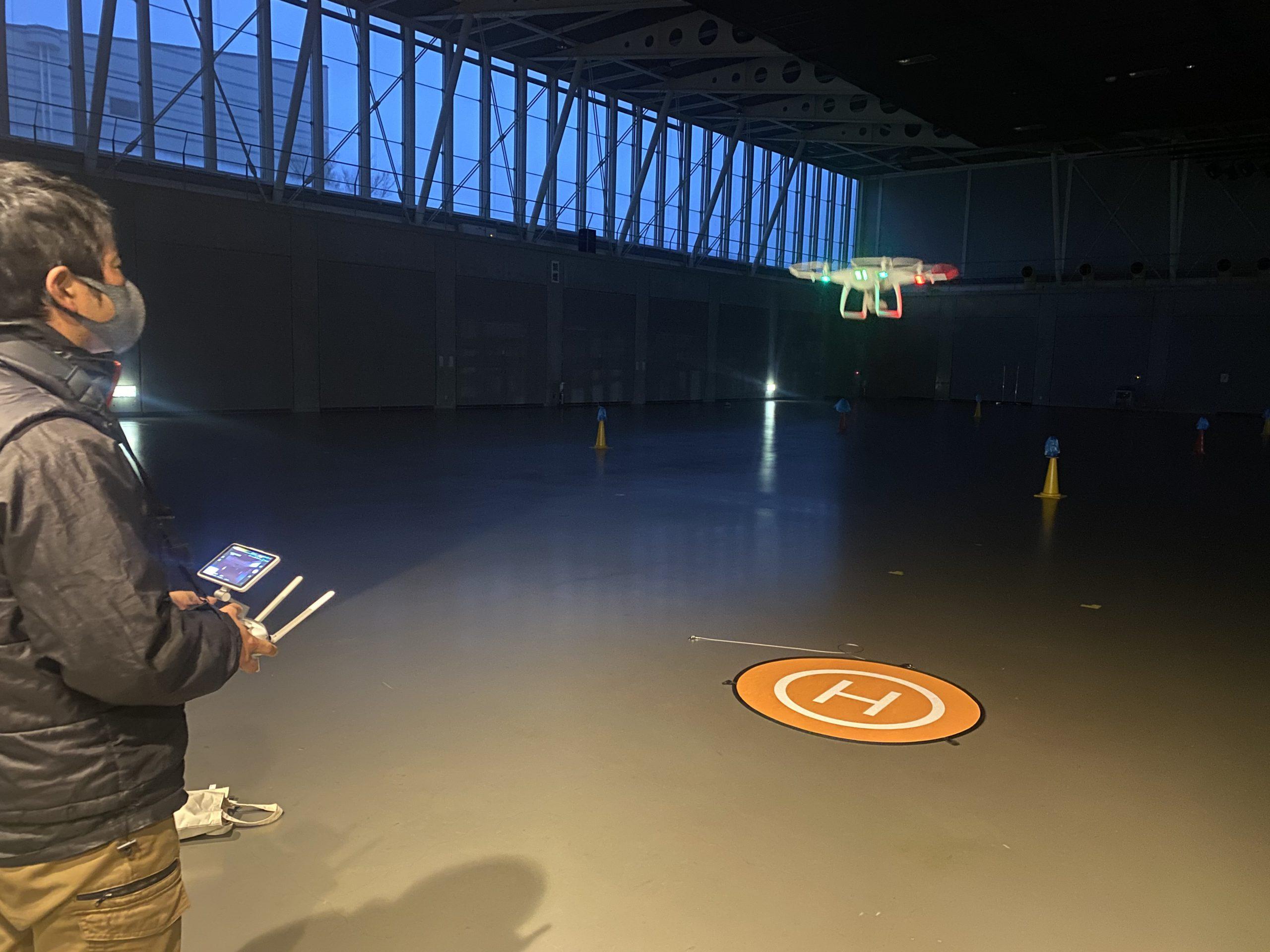 12月JUIDA無人航空機操縦技能実技講習夜間飛行練習